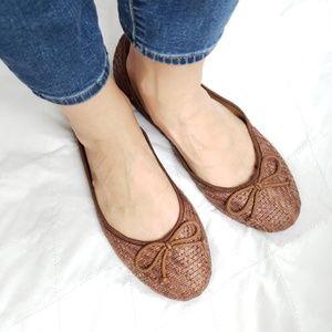 Franco Sarto Woven Brown Ballet Flats 11 M Shoes